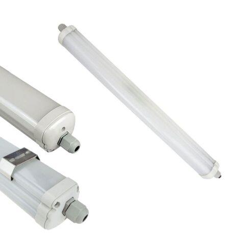 Lot de 12 Plafonniers LED 36W extérieur IP65 120CM - 6400K - 6284