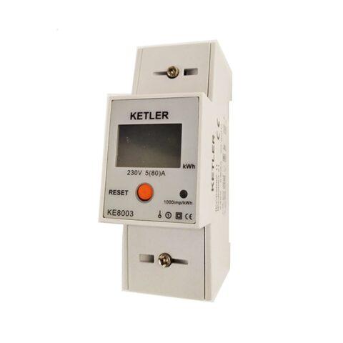 Compteurs électriques Monophasé – 80A – Affichage LCD – KE8003